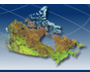 Image satellite du Canada