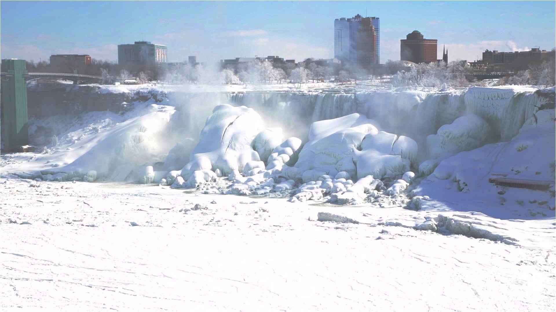 Les chutes du Niagara gelées