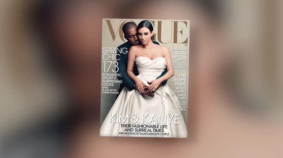 Kim Kardashian et Kanye West font la couverture de Vogue