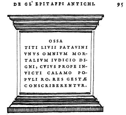 Gabriello Simeoni, Illustratione de gli epitaffi, 1558, p.95