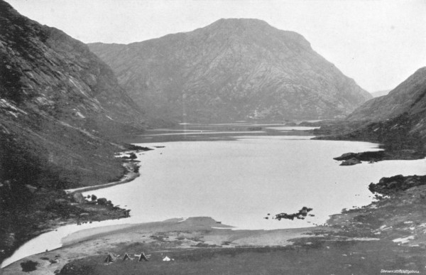 Looking down Loch Coruisk from behind the camp