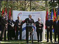 Leaders from Balkan nations at a regional summit