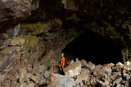 Breakdown in Pictograph Cave.