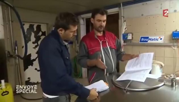 """L'émission """"Envoyé spécial"""" consacrée à Lactalis, le 13 octobre 2016 (capture France 2)"""