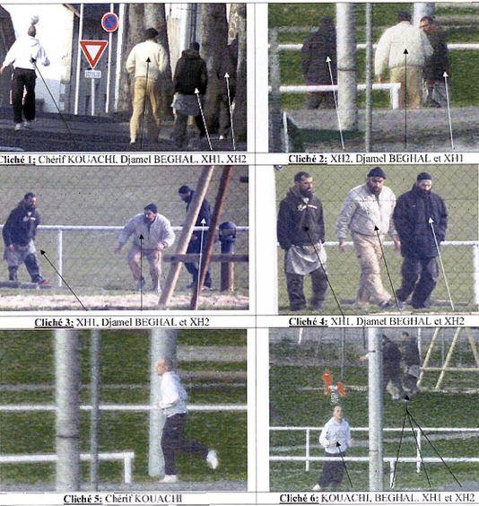 Photos de surveillance policière prises à Murat (Cantal) lors d'une rencontre entre Chérif Kouachi et le terroriste Djamel Beghal, le 11 avril 2010.