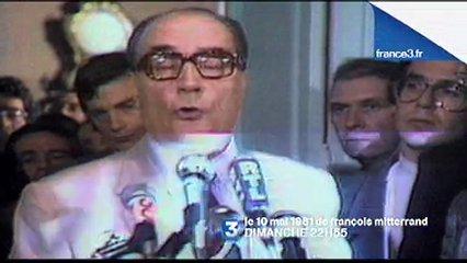 Francois Mitterrand, le 10 mai 81 sur France 3