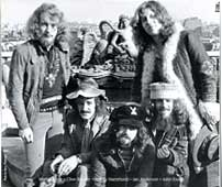 from left: Martin Barre, Clive Bunker, Jeffrey Hammond, Ian Anderson, John Evan. Photo by Barry Plummer. All Rights Reserved.