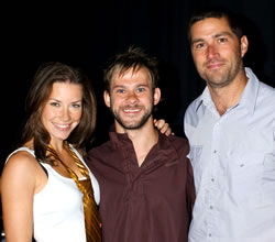Evangeline Lilly, Dominic Monaghan and Matthew Fox at Comic-Con 2004