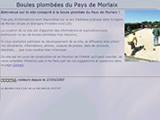 Aperçu du site Boules plombées du Pays de Morlaix