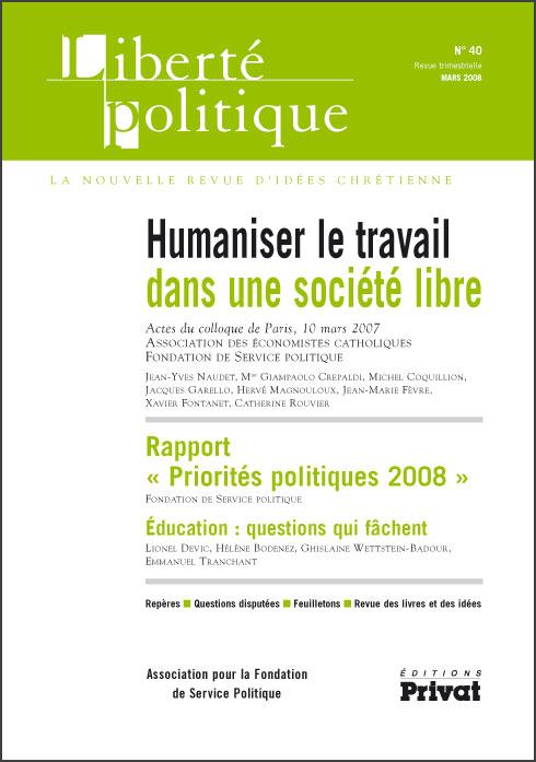 La revue Liberté politique
