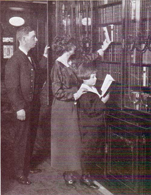 Each White Star Line ship has a carefully selected library