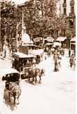 imatge d'época de la ciutat de barcelona