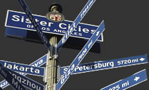 Los Angeles Sister Cities Street Sign