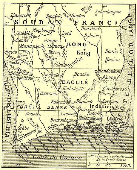 Carte de la Cote d'Ivoire