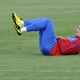 Serbia's forward Marko Pantelic warms up during the team's training session at the Rand stadium in J