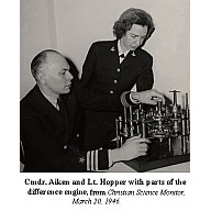 preview of Howard Aiken and Grace Hopper with the Babbage difference engine component now in CHSI.