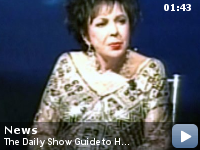 """The Daily Show Guide to Home Video -- Screen legend Elizabeth Taylor, 75, emerged from her seclusion to support what she calls her """"determined crusade"""" to wipe out AIDS.  Christina McLarty reports."""
