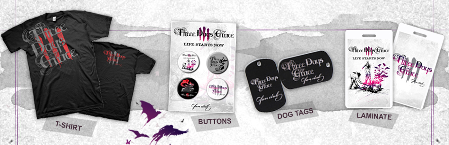 Become a Member of the official Three Days Grace Fan Club
