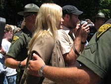 Daryl Hannah is arrested at Marsh Fork