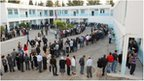 Queue at Tunis polling station (23 Oct 2011)