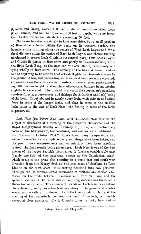 Page 381, Volume II, Part I - Lochs of the Ness Basin