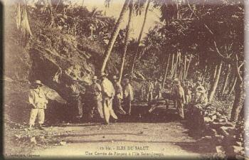 Une corvée à l'ile St Joseph