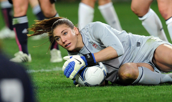 U.S. goalkeeper Hope Solo is dealing with conflicting emotions as she prepares for the 2012 London Olympic Games.