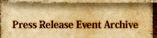 Press Release Event Archive