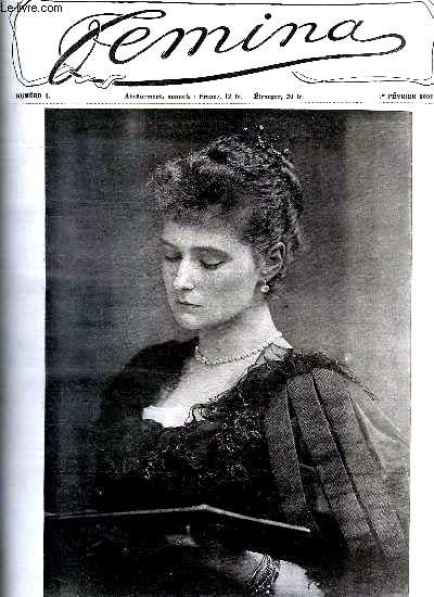 Couverture du premier numéro de la revue Femina en février 1901