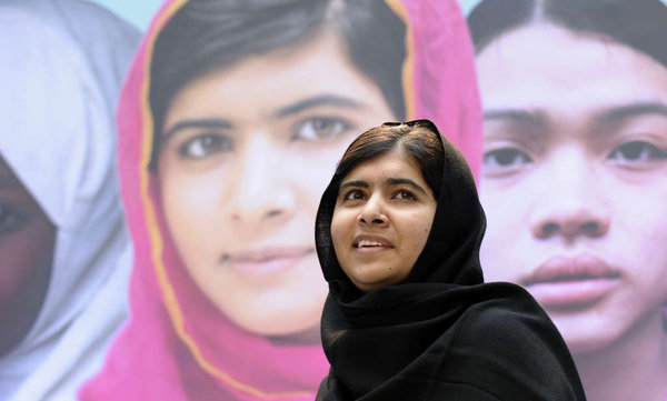 Malala Yousafzai advocating education for girls on last year's International Day of the Girl in October.