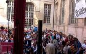 Le public de l'hôtel d'Albret © Emmanuelle Lacaze