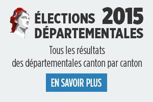 Départementales 2015 - Tous les résultats