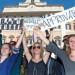 15/04/2013 Roma, consegna della raccolta firme per il reddito minimo garantito a Montecitorio. Nella foto alcuni dei promotori