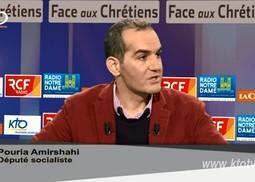 Pouria Amirshahi, sur le plateau de l'émission « Face aux Chrétiens » le jeudi 3 mars 2016.