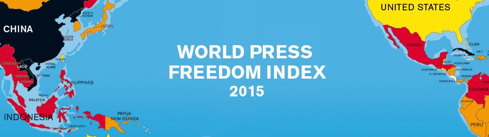 Classement mondial de la liberté de la presse 2015