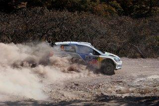 Sébastien Ogier champion WRC a terminé premier du Rallye du Mexique en 2014.