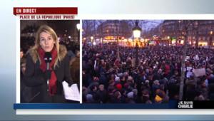 """Le 20 heures du 7 janvier 2015 : Place de la République, un rassemblement """"dans le recueillement"""" - 1465.779"""