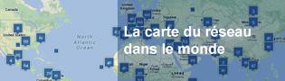 Carte du réseau dans le monde