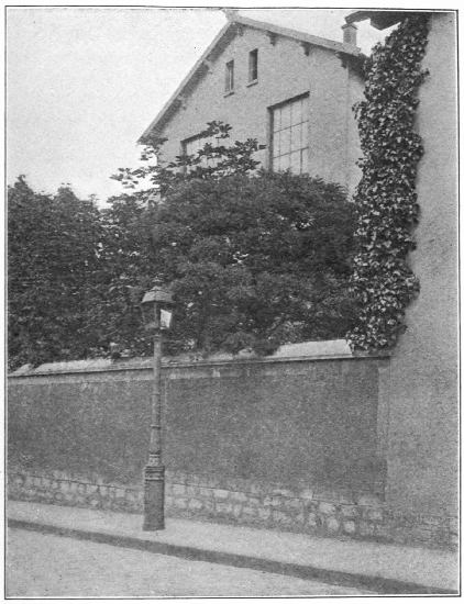 A VIEW OF THE HOUSE IN THE IMPASSE RONSIN The ten-foot windows of the studio only visible