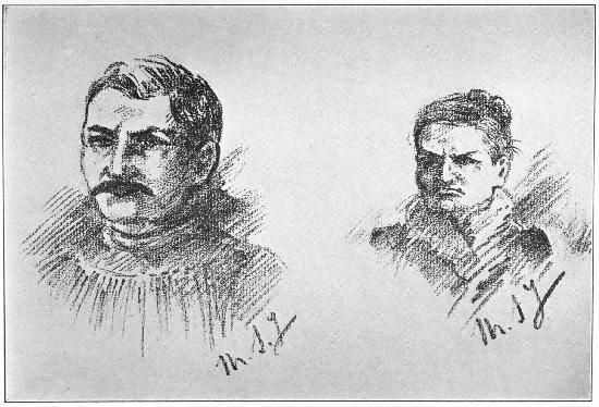 ALEXANDRE WOLFF AND HIS MOTHER, MARIETTE WOLFF Sketches by Mme. Steinheil