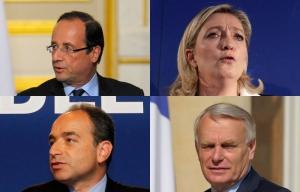 Hollande Ayrault Le Pen Copé