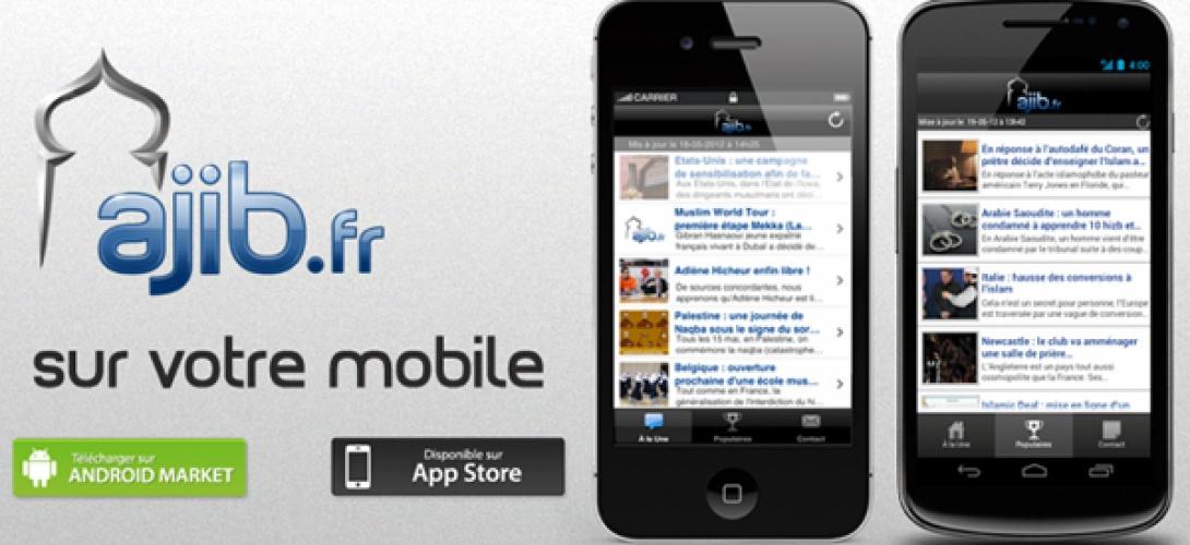 Une capture d'écran du site Ajib.fr
