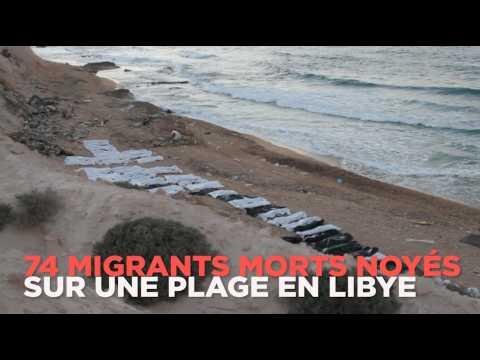 74 migrants morts noyés sur une plage en Libye