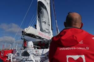 Voile. «Initiatives coeur» au départ du Vendée Globe pour Mécénat Chirurgie Cardiaque