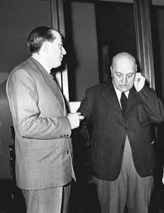 Giulio Andreotti con Attilio Piccioni
