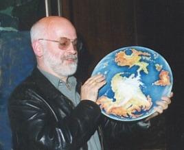 Terry Pratchett at his 50th birthday party...