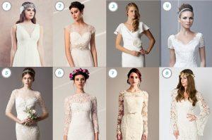 Brautkleid Ausschnitt Stile