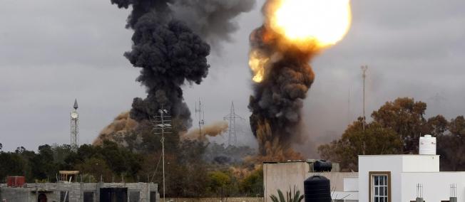 Premier bilan des frappes aériennes françaises en Libye