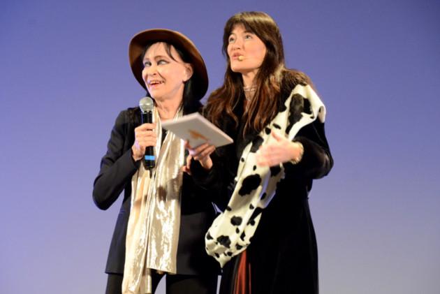 Nadine de Géa et Anna Karina.
