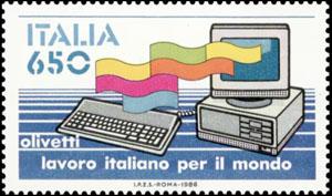 olivetti francobollo 1986